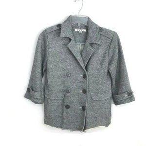 Cabi #393 Shrunken Pea Coat Blazer Jacket knit